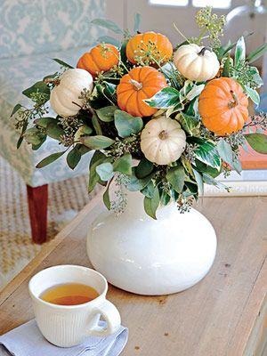 Gourd-Geous Bouquet ~ Eucalyptus & Mini Pumpkins