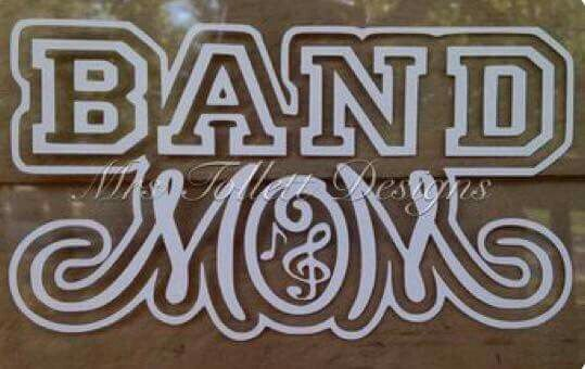 Band mom shirt Select all and group then should be able to off set it. May have to off set it twice and delete the first off set to get the negative space between the text group and the outline Mom similar to lavenderia