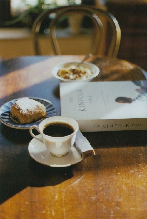 Morning reads, coffee