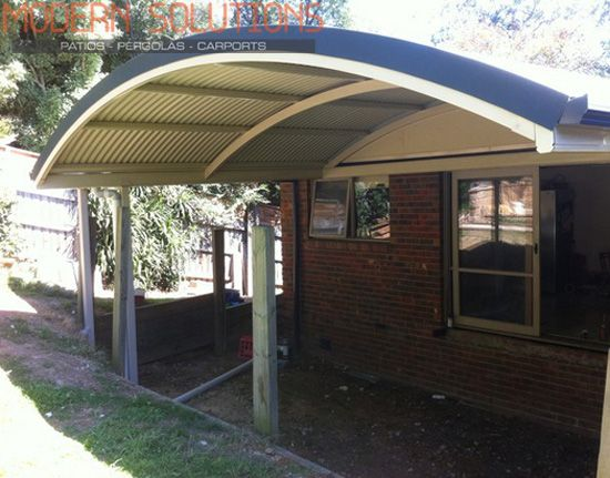Curved Roof Patio Help To Increase The Value Of Outdoors In Melbourne.  Modify Your Outdoor