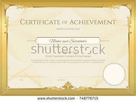 125 best Certificate template images on Pinterest Certificate - certificate of achievement template