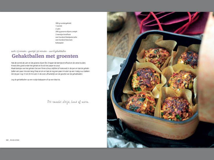 Gehaktballen met groenten. Recept Pascale Naessens