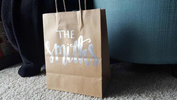 Personalized Name Gift Bag, Wedding Hashtag Gift Bag, Custom Gift Bag, Personalized Gift Bag, Wedding Gift Bag, Guest Gift Bag, Last Name by ArtOfWordsBoutique on Etsy