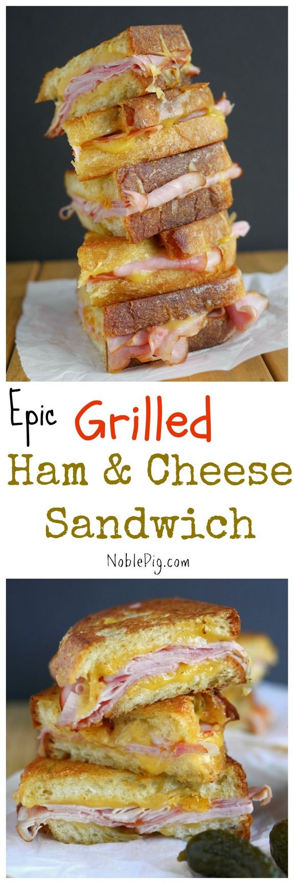 Epic Grilled Ham and Cheese Sandwich from NoblePig.com. When you use the best ingredients, you only have to use a few.