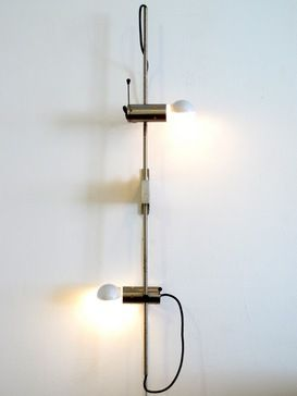 Tito Agnoli; Nickel-Plated Sconce for Oluce, 1950s.