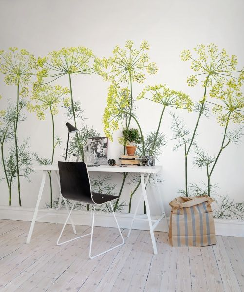 Rebel Walls, Crown Of Dill #rebelwalls #wallpaper #wallmurals http://rebelwalls.com/collections/no-3-greenhouse/crown-of-dill/?group=prod_prod_grp-s1%2F81