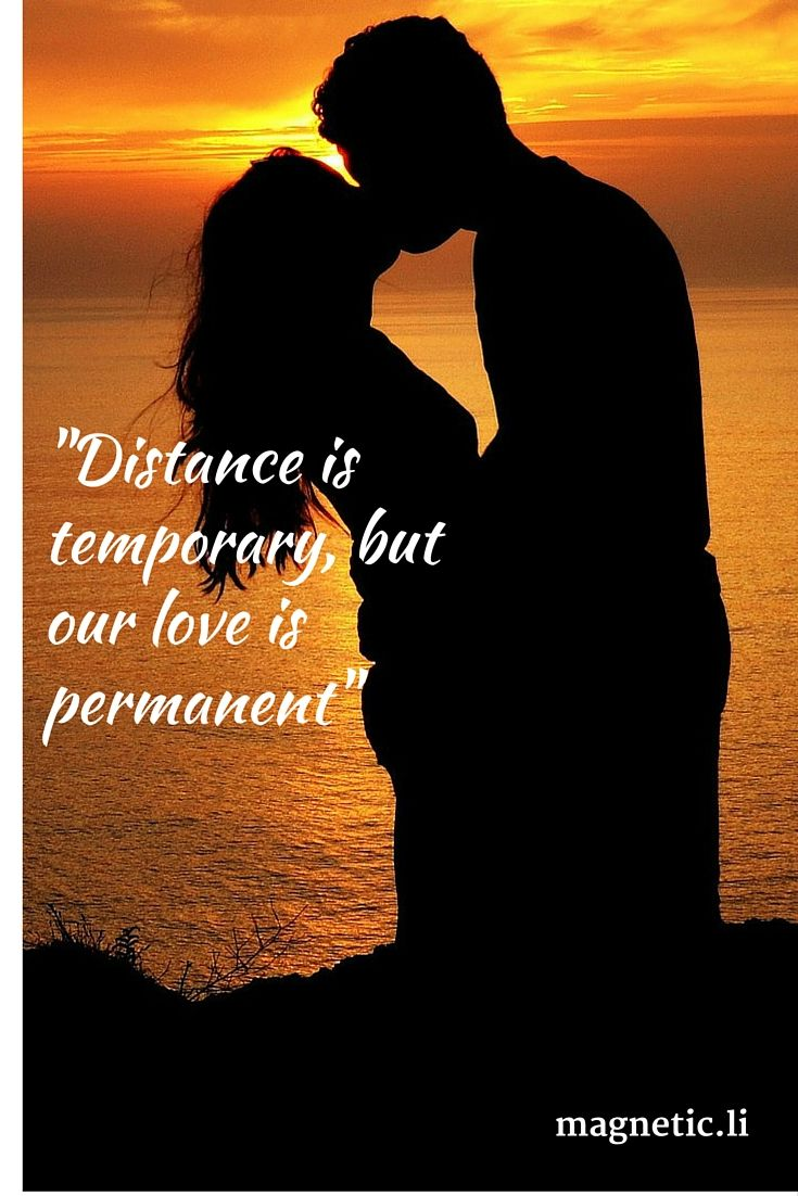 If you love each other you can be thousands of miles apart but it won't affect your depth of feeling. Click here to discover how to make long distance love work using the law of attraction.
