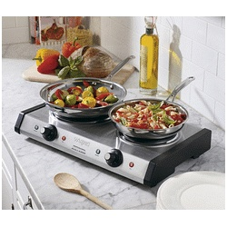 Waring Pro Double Portable Electric Stove Top