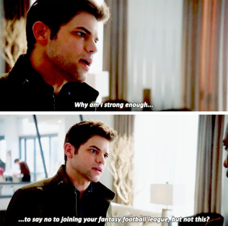 """Why am I strong enough to say no to joining your fantasy football league, but not this?"" - Winn and James #Supergirl"