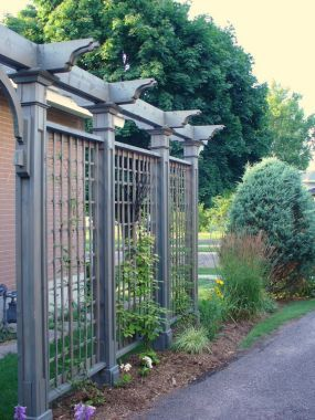 Driveway privacy trellis to block the boat and other eye sores...