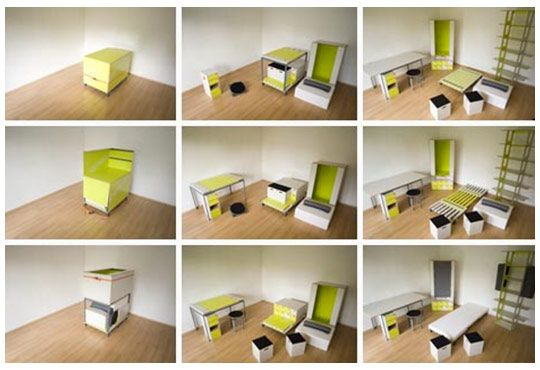 Bedroom in a Box  This has to be the most usable item on the list, and is in fact brilliant. Perfect for students; people who are likely to move regularly and even refugees in disaster zones; Bedroom in a Box is an example of design genius.