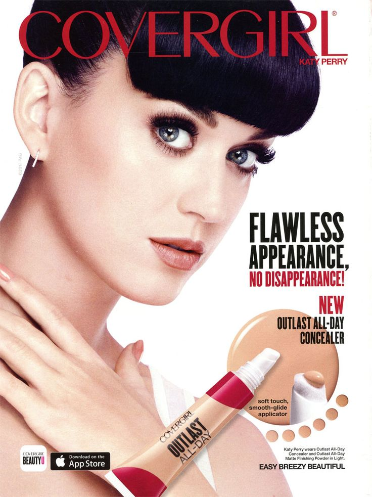 Cosmetics And Makeup: Katy Perry For CoverGirl Ads Outlast All-Day Concealer
