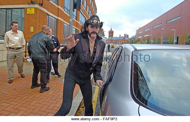 FILE PIX: Cardiff, UK. 5th Nov, 2005. Stock photos of Lemmy from Motorhead visiting the National Assembly in Cardiff Bay for an anti drugs press conference ahead of their gig at Cardiff University Students Union on 5th November 2005. Credit:  Phil Rees/Alamy Live News - Stock Image