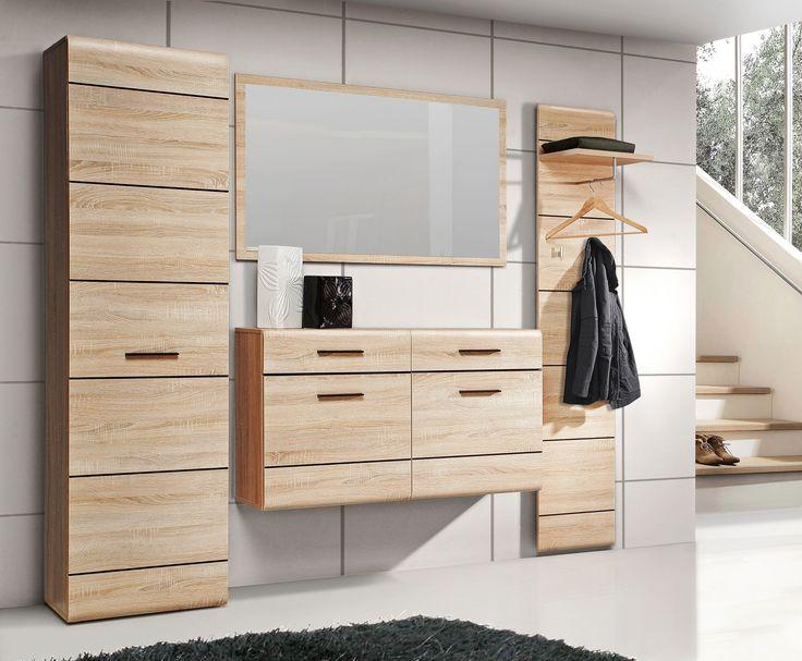 Elegantes Garderoben Set Cora I in trendigen Farben bestehend aus: 1 x Kleiderschrank mit 1 Tür B/H/T 55,1 x 193,9 x 34,7 cm 1 x Hängeschuhschrank mit 2 Schubkästen und 2...