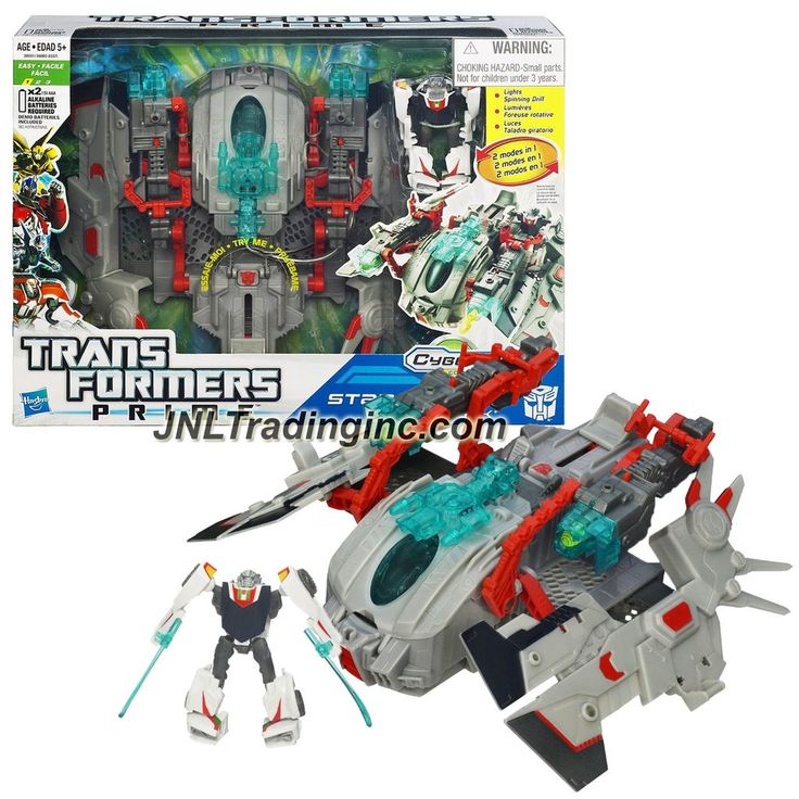 Hasbro Year 2011 Transformers Prime Series 9 Inch Long Vehicle with Figure Set - STAR HAMMER with Lights, 2in1 Battle Modes, Missiles Plus Wheeljack