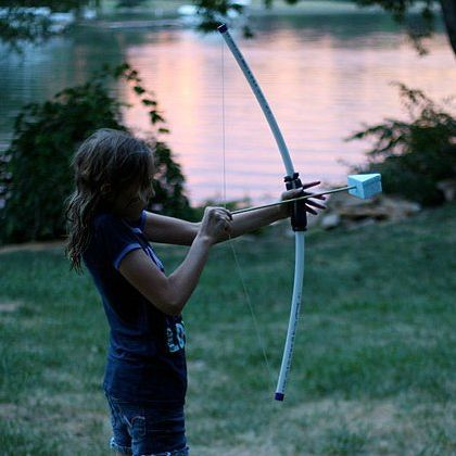 28 best images about toy bow and arrow for kids on for Kids pvc bow