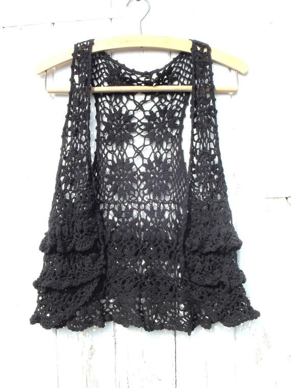 vintage crocheted vest.