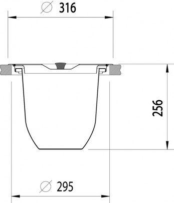 Lixeira para Granito - 94518000 : Utilidades Gerais para o Lar - Lixeiras | Tramontina