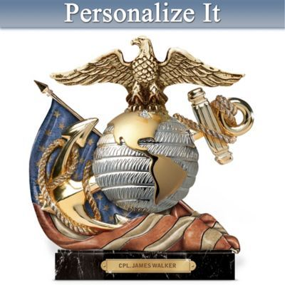 A FIRST! Limited-edition handcrafted sculpture captures iconic USMC symbol…