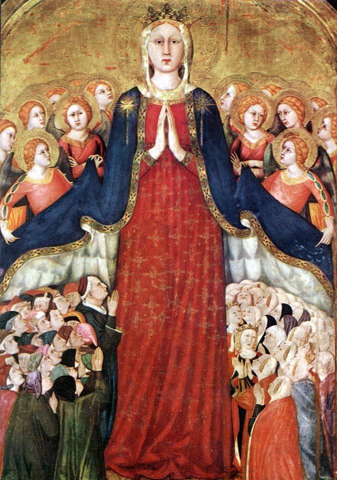 Lippo Memmi, Madonna della Misericordia, Chapel of the Corporal, Duomo, Orvieto, c. 14th century