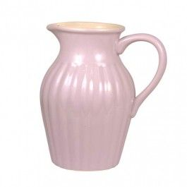 """Ib Laursen """"Mynte"""" Krug (Rosa) - Der Keramik-Krug Mynte von Ib Laursen ist aus wunderschönem Pastellton und verleiht jedem Tisch einen Hauch ländlicher Idylle. Mit dem Krug in Rillenoptik kann Milch, Saft und vieles mehr serviert werden. Natürlich eignet sich die Kanne auch als Vase."""