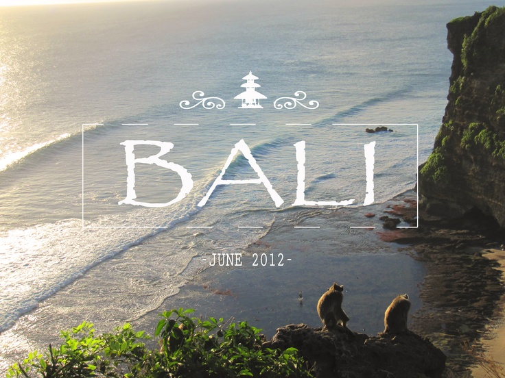 My holidays in Bali!