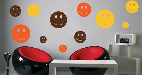 In only few minutes, you will give a new look to your room with this smiley decal.   Visit this link for more designs: https://limelight-vinyl.myshopify.com/