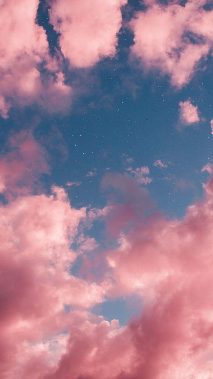 Pink Sky Iphone3 Pink Sky Pink Sky Pink Clouds Wallpaper Night Sky Wallpaper Aesthetic Backgrounds