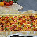 Tarte bicolore aux tomates cerises - Un an pour faire son cooking out