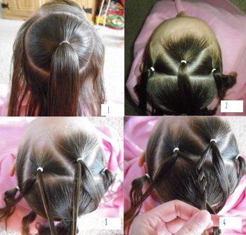 Фантазии причёсок - детские причёски для девочек, мастер-класс, фото