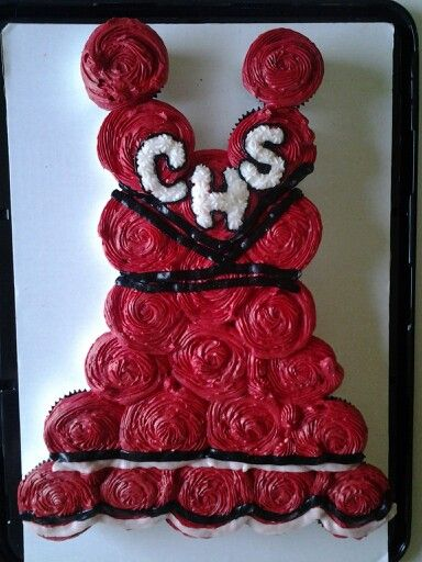 Cheerleader Uniform Cupcake