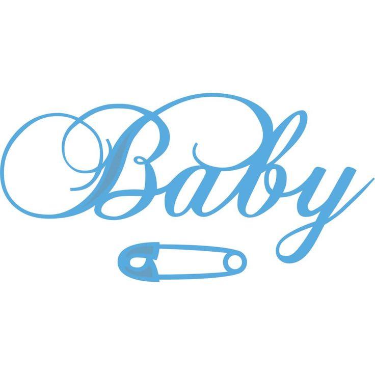 Marianne Design Creatables Die Baby Text Safety Pin