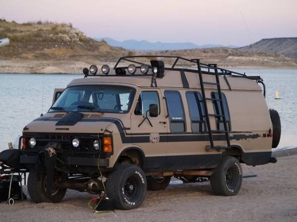 1984 Dodge van with rare Pathfinder 4x4 conversion.