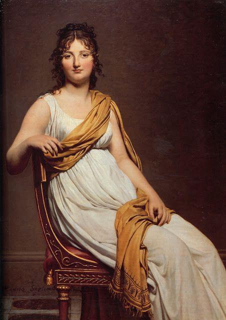 Portrait of Henriette de Verninac by David, 1799.