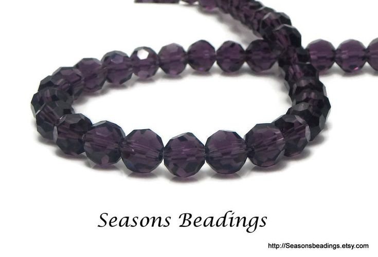 Excited to share the latest addition to my #etsy shop: 70 Translucent Purple 8mm Faceted Round Crystal Beads - Free Shipping to Canada http://etsy.me/2C9ZxSN #supplies #purple #crystal #jewelrymaking #freeshipping #canada #bead