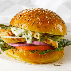Marinated Chicken Sandwich with Herb and Lemon Aioli Recipe Image