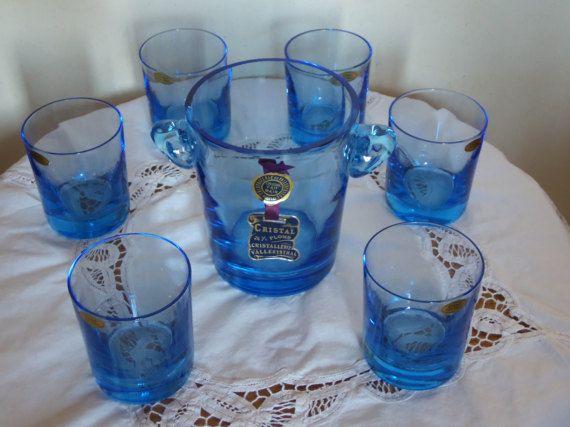 Service aperitif seau a glace et 6 verres a whisky par MadeinFlo