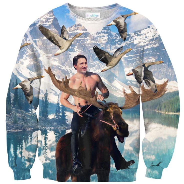 Sweatshirts - Moosin' Trudeau Sweater