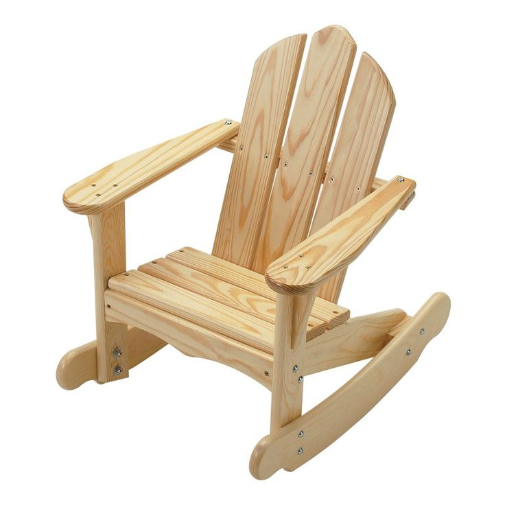 Outdoor Little Colorado Childs Sunroom Adirondack Rocking Chair