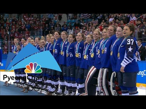 Team USA receives women's hockey gold medals - YouTube