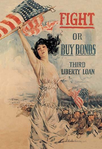 FIGHT! or Buy Bonds: Third Liberty Loan by Howard Chandler Christy -#Art Print #FlaggandChristyWorldWarI #Military #posters https://postercrazed.com/product/fight-or-buy-bonds-third-liberty-loan-by-howard-chandler-christy-art-print/