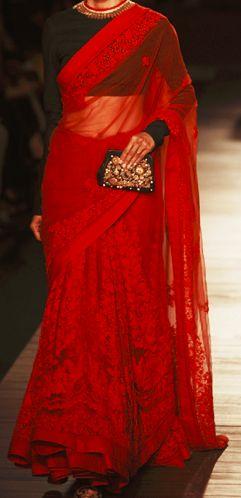 Plain longer-sleeved blouse for lace saree. Bollywood Ishtyle