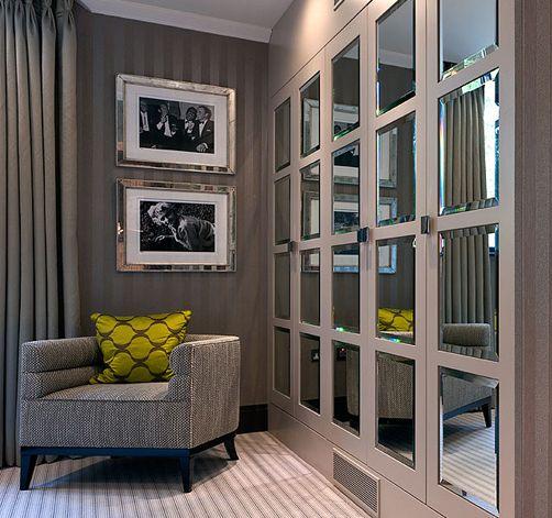 Love the wardrobe doors - #wardrobes #closet #armoire storage, hardware, accessories for wardrobes, dressing room, vanity, wardrobe design, sliding doors, walk-in wardrobes.