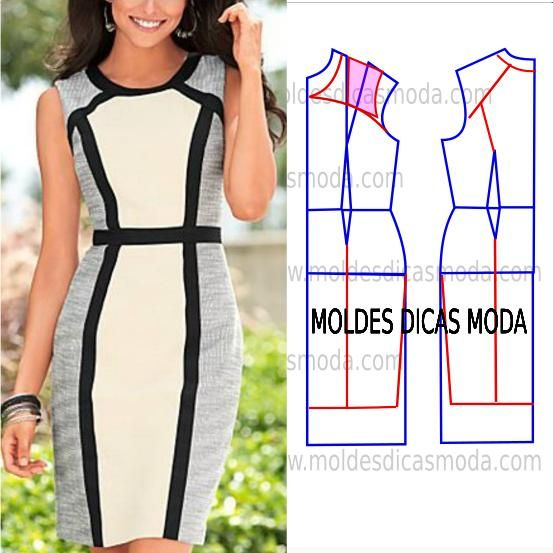 Favoritos 252 best MOLDES DE VESTIDOS images on Pinterest | Sewing patterns  JT22