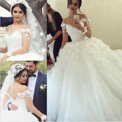 Long Sleeve Lace Appliques Charming wedding dress, lace wedding dress, cheap wedding dress, cheap wedding gown, bridal wedding dress,W08 from CocoFashion