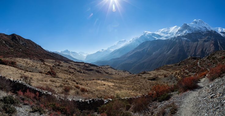 The Annapurna mountain range as seen from Upper Khangsar Nepal [OC] [93254802] #reddit