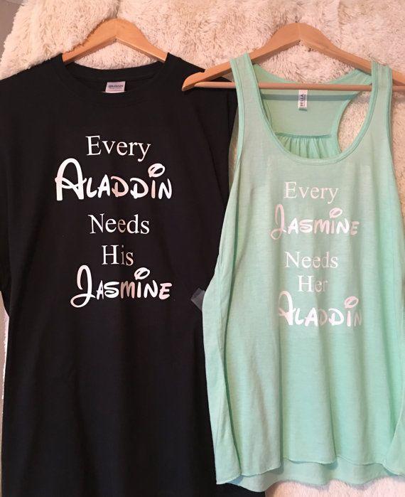 Disney Shirts| Disney Cruise Shirts| Les couples Disney Shirts| Disney Couples Shirts| Disney personnalisé Shirts| Chemises de Aladdin