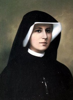 """St. Mary Faustina Kowalska, """"Apostle of Divine Mercy"""". Feast Day: October 5.  Divine Mercy Sunday is the Sunday after Easter Sunday.  Jesus, I trust in You."""