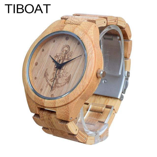 Promotion price TIBOAT Full Bamboo Wood Watches Lost sea Anchors Bamboo Clock Wooden Wristwatches Men Luxury Watch relogio masculino de luxo just only $20.86 with free shipping worldwide  #menwatches Plese click on picture to see our special price for you