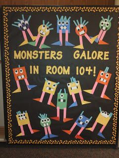 Kindergarten Rocks!: Shape Monster Bulletin Board